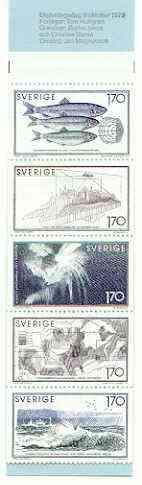 Booklet - Sweden 1979 Sea Research 8k50 booklet complete and very fine, SG SB336