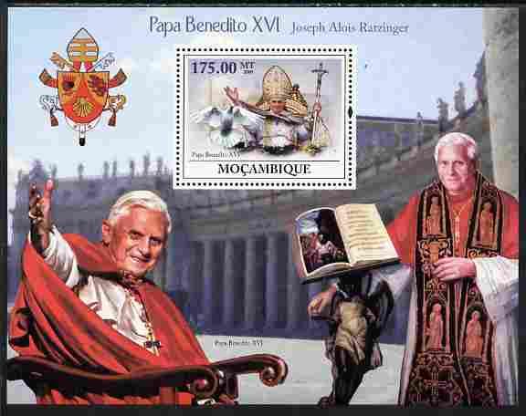 Mozambique 2009 Pope Benedict XVI perf souvenir sheet unmounted mint