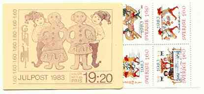 Booklet - Sweden 1983 Christmas (Chritmas Cards) 19k20 booklet complete and very fine, SG SB368