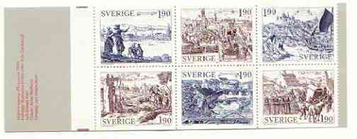 Booklet - Sweden 1984 Old Towns 11k40 booklet complete and very fine, SG SB375