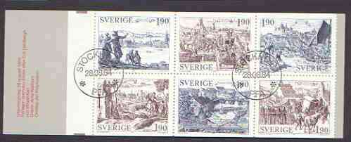 Booklet - Sweden 1984 Old Towns 11k40 booklet complete with first day cancels, SG SB375