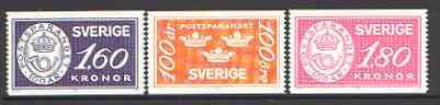 Sweden 1984 Centenary of Postal Savings set of 3 unmounted mint, SG 1180-82