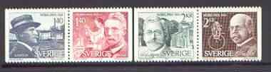Sweden 1980 Nobel Prize Winners of 1920 set of 4 unmounted mint, SG 1056-59