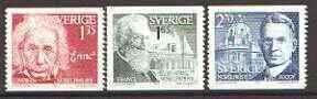 Sweden 1981 Nobel Prize Winners of 1921 set of 3 unmounted mint, SG 1098-1100