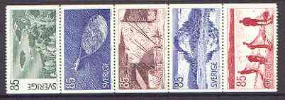 Booklet - Sweden 1976 Tourism - Angermanland se-tenant set of 5 (ex booklets) unmounted mint SG 889-93