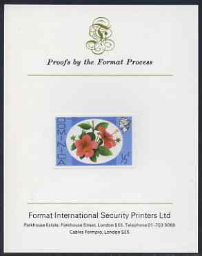 Dominica 1975-78 Hibiscus 1/2c imperf proof mounted on Format International proof card (as SG 490)