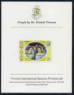 Dominica 1975-78 Lime Factory $1 imperf proof mounted on Format International proof card (as SG 504)