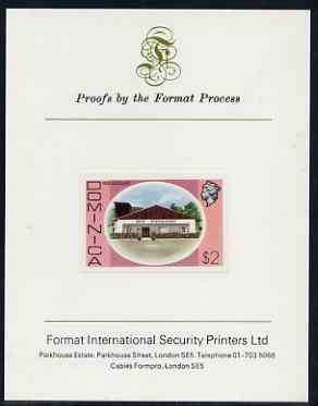 Dominica 1975-78 Rum Distillery $2 imperf proof mounted on Format International proof card (as SG 505)