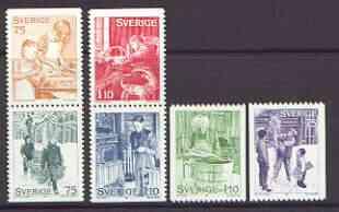 Sweden 1977 Christmas (Seasonal Customs) set of 6 unmounted mint, SG 944-49