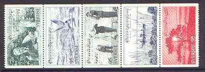 Booklet - Sweden 1977 Tourism (Musical Poem) se-tenant set of 5 (ex booklets) unmounted mint, SG 927a