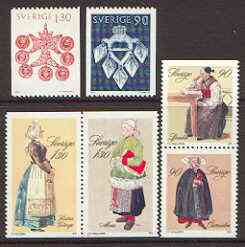 Sweden 1979 Peasant Costumes set of 6 unmounted mint, SG 1021-26