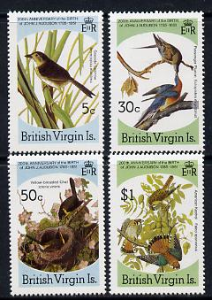 British Virgin Islands 1985 John Audubon Birds set of 4 unmounted mint, SG 588-91
