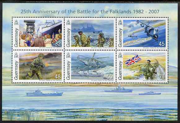 Guernsey 2007 25th Anniversary of Battle for the Falkland Islands perf m/sheet unmounted mint, SG MS1148