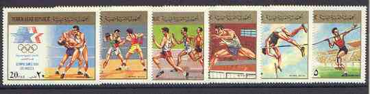 Yemen - Republic 1985 Los Angeles Olympics set of 6 unmounted mint, SG 763-68