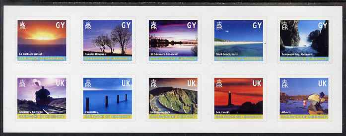 Guernsey 2001 Island Scenes sheetlet of 10 self-adhesives unmounted mint, SG 901a