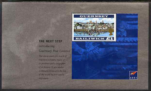 Guernsey 2001 Incorporation of Guernsey Post Ltd booklet pane of 1 x \A31 unmounted mint, SG 927a