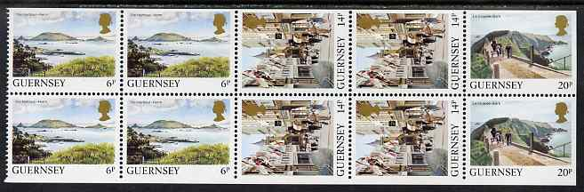 Guernsey 1984-91 Booklet pane of 10 (4 x 6p, 4 x 14p, 2 x 20p) from Bailiwick Views def set unmounted mint, SG 301a
