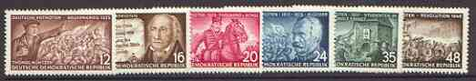 Germany - East 1953 German Patriots set of 6 unmounted mint, SG E146-51