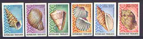 Togo 1974 Sea Shells imperf set of 6 from limited printing unmounted mint, as SG 1021-26