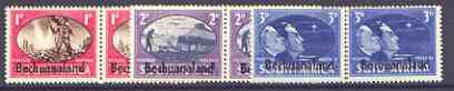 Bechuanaland 1945 Victory Commemoration unmounted mint set of 3 horiz pairs, SG 129-31