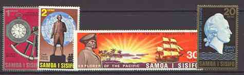 Samoa 1970 Cook's Exploration of the Pacific set of 4 unmounted mint, SG 349-52