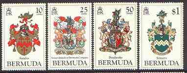 Bermuda 1983 Coats of Arms (1st series) set of 4 unmounted mint, SG 457-60