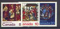 Canada 1976 Christmas (Stained Glass Windows) set of 3 unmounted mint, SG 848-50*