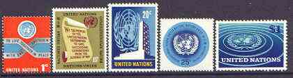 United Nations (NY) 1965 set of 5 complete unmounted mint, SG 146-50