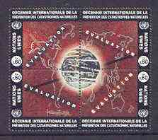 United Nations (Vienna) 1994 Int Decade for Natural Disaster Reduction se-tenant block of 4, unmounted mint SG V169-72
