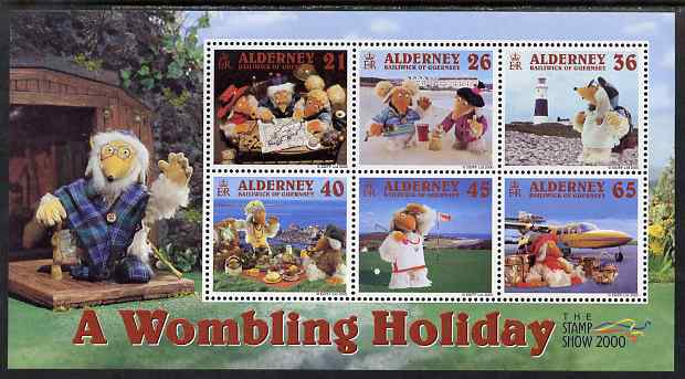 Guernsey - Alderney 2000 A Wombling Holiday perf m/sheet unmounted mint, SG MSA152