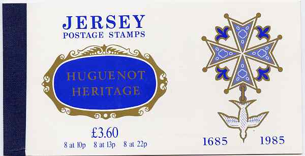 Booklet - Jersey 1985 300th Anniversary of Huguenot Immigration �3.60 prestige booklet complete, SG B36