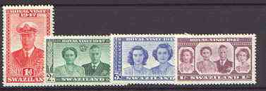 Swaziland 1947 KG6 Royal Visit set of 4 unmounted mint, SG 42-45