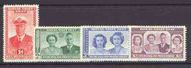 Bechuanaland 1947 KG6 Royal Visit set of 4 unmounted mint, SG 132-35