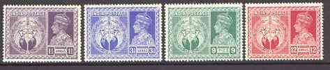 India 1946 Victory Commemoration set of 4 unmounted mint, SG 278-81*