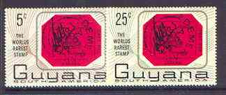 Guyana 1967 World's Rarest Stamp set of 2 unmounted mint, SG 414-15
