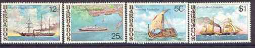 Barbados 1979 Ships set of 4 unmounted mint, SG 613-16*