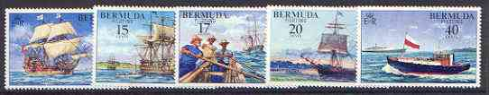 Bermuda 1977 Piloting (Ships) set of 5 unmounted mint, SG 379-83*
