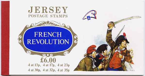 Booklet - Jersey 1989 Bicentenary of the French Revolution \A36.00 prestige booklet complete, SG B41