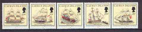 Cayman Islands 1994 Wreck of Ten Sail set of 5 unmounted mint, SG 788-92*