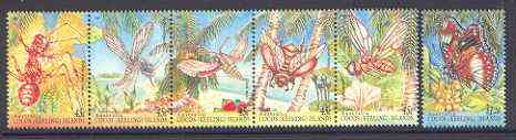 Cocos (Keeling) Islands 1995 Insects set of 6 unmounted mint SG 326a & 331