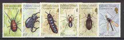 Falkland Islands Dependencies 1982 Insects set of 6 unmounted mint, SG 102-7*