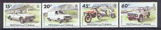 Tristan da Cunha 1995 Transport set of 4 unmounted mint, SG 576-79*