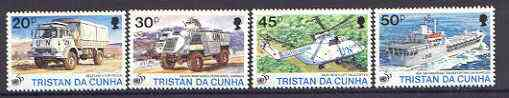 Tristan da Cunha 1996 50th Anniversary of the United Nations set of 4 unmounted mint, SG 590-93*
