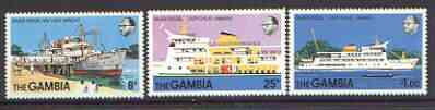 Gambia 1978 New River Vessel set of 3 unmounted mint, SG 404-406