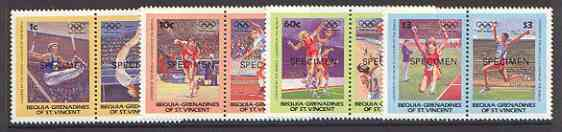 St Vincent - Bequia 1984 Olympics (Leaders of the World) set of 8 opt