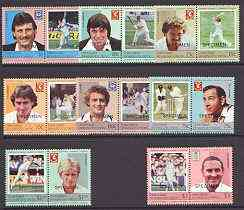 St Vincent - Union Island 1984 Cricket (Leaders of the World) set of 16 opt'd SPECIMEN, unmounted mint