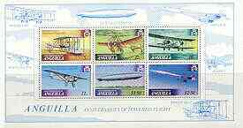 Anguilla 1979 History of Powered Flight perf m/sheet unmounted mint, SG MS 371