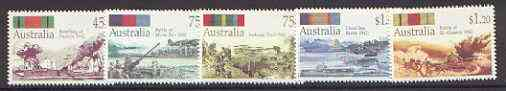 Australia 1992 World War 2 Battles set of 5 unmounted mint, SG 1338-42*