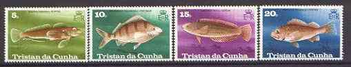 Tristan da Cunha 1978 Fish set of 4 unmounted mint, SG 246-49