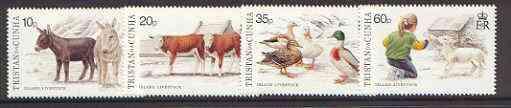 Tristan da Cunha 1994 Island Livestock (1st series) set of 4 unmounted mint, SG 572-75*